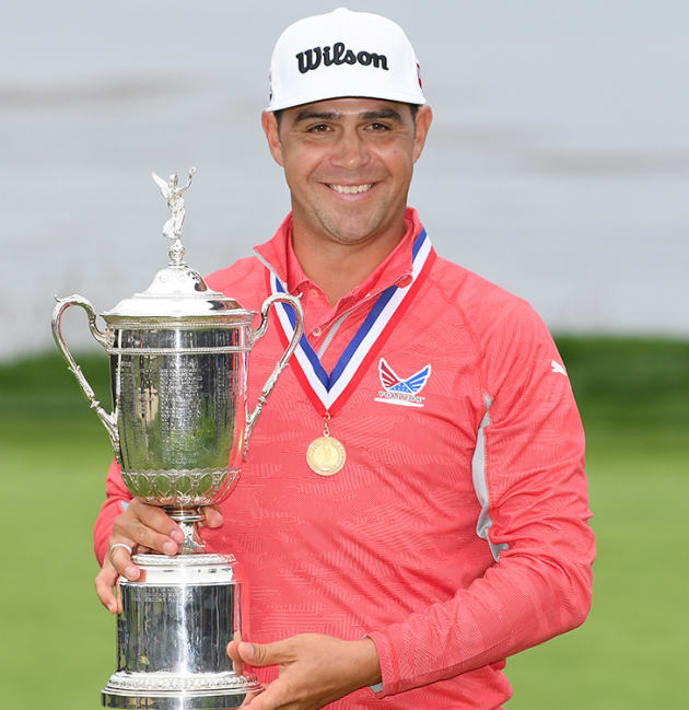 Woodland wins first major title