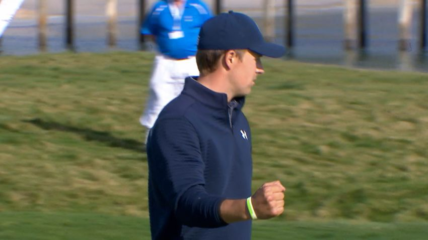 Jordan Spieth shows off his putting game at AT&T Pebble Beach