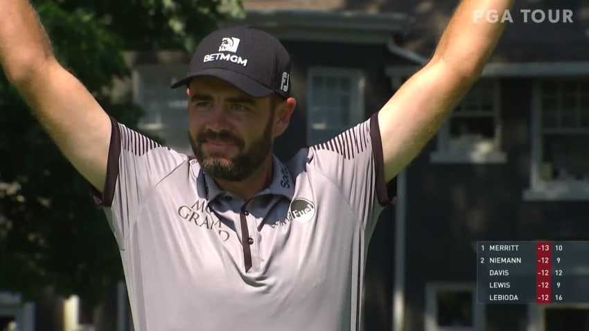 Troy Merritt's incredible hole-in-one No. 11 at Rocket Mortgage