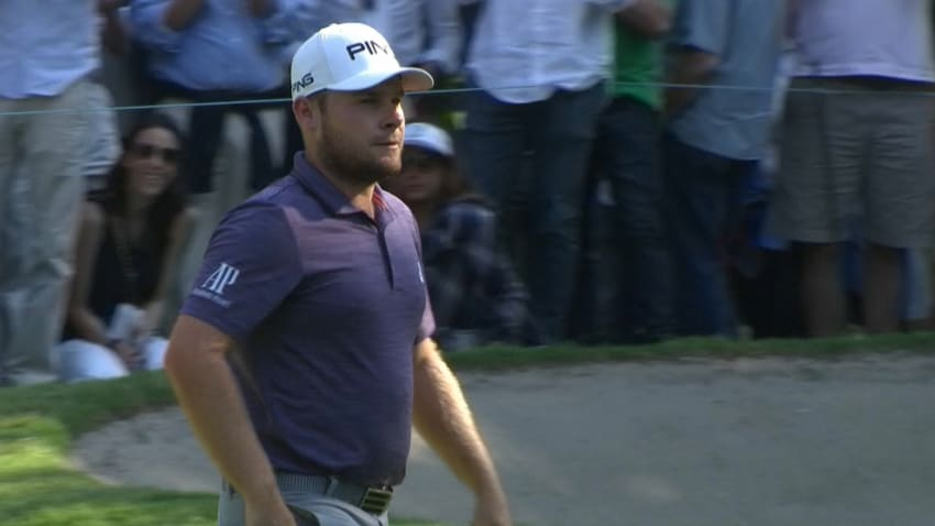 Tyrrell Hatton's approach leads to eagle putt at Mexico Championship