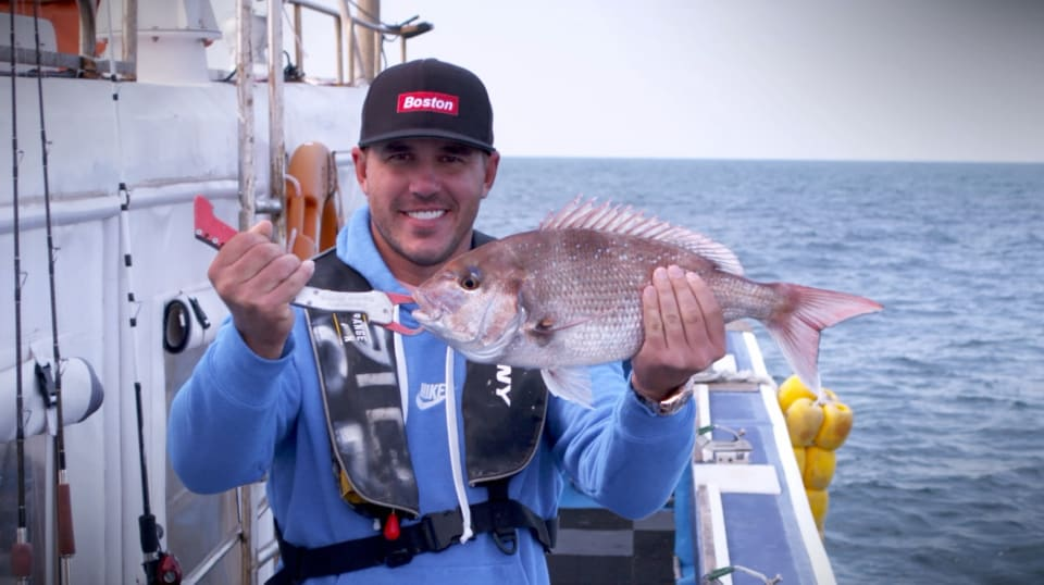 Brooks Koepka goes fishing on Jeju Island
