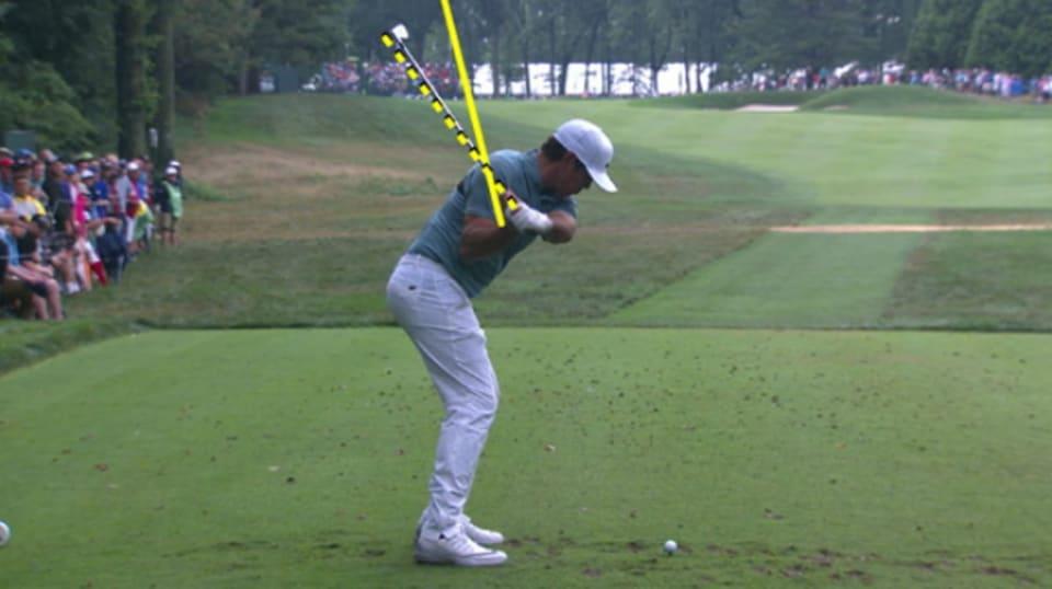 golf swing slow motion iron