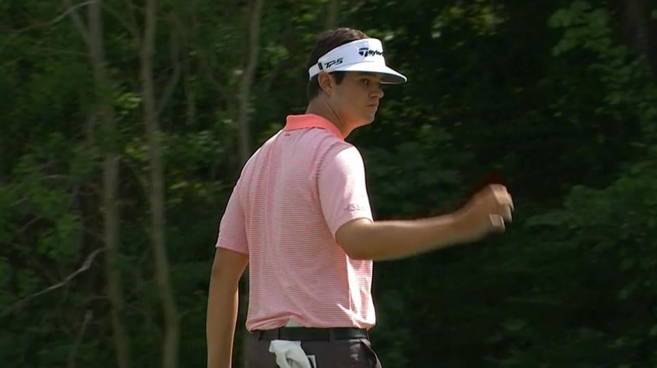 Beau Hossler's clutch birdie putt on No. 14 at Houston Open