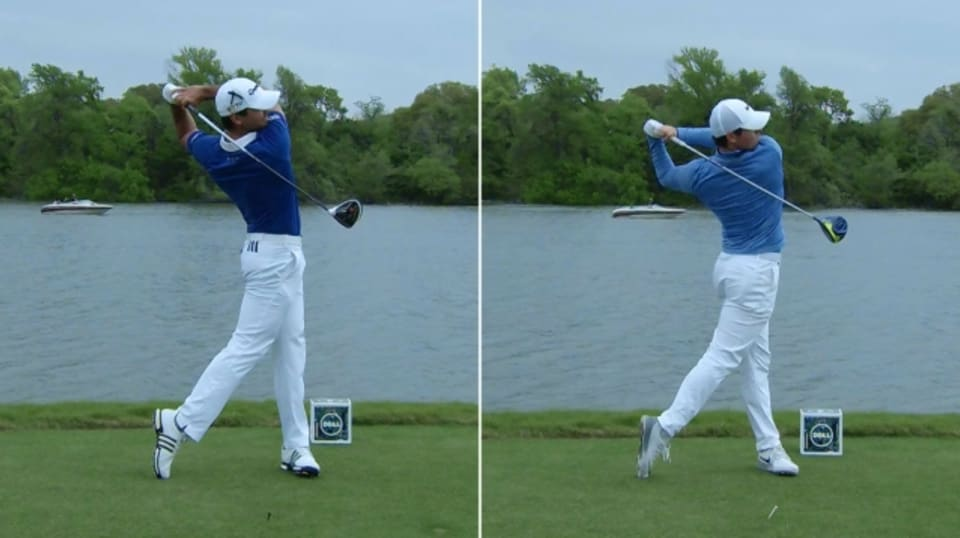 jason day and rory mcilroy u0026 39 s swing comparison at dell