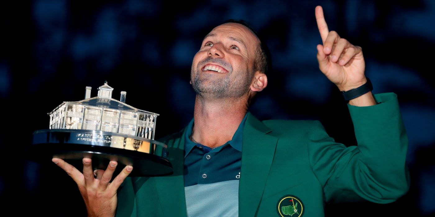 Sergio with Masters trophy