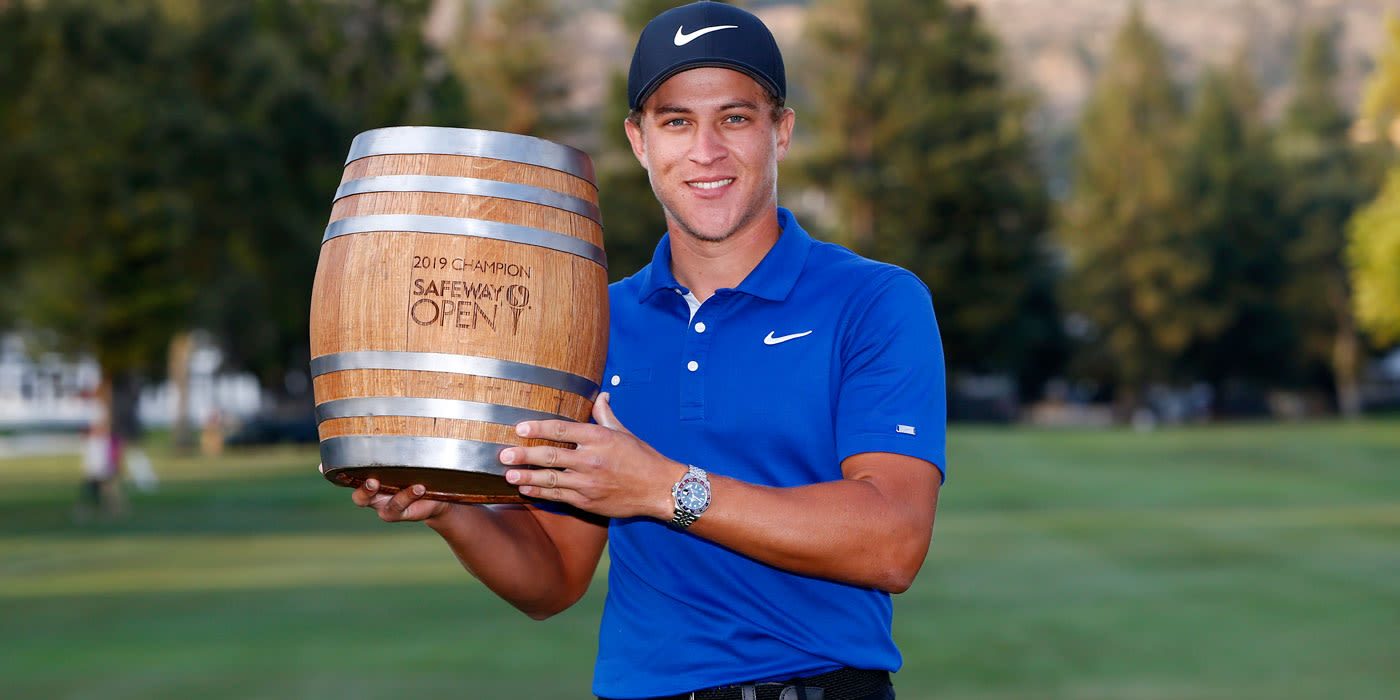 Cameron Champ with the Safeway keg