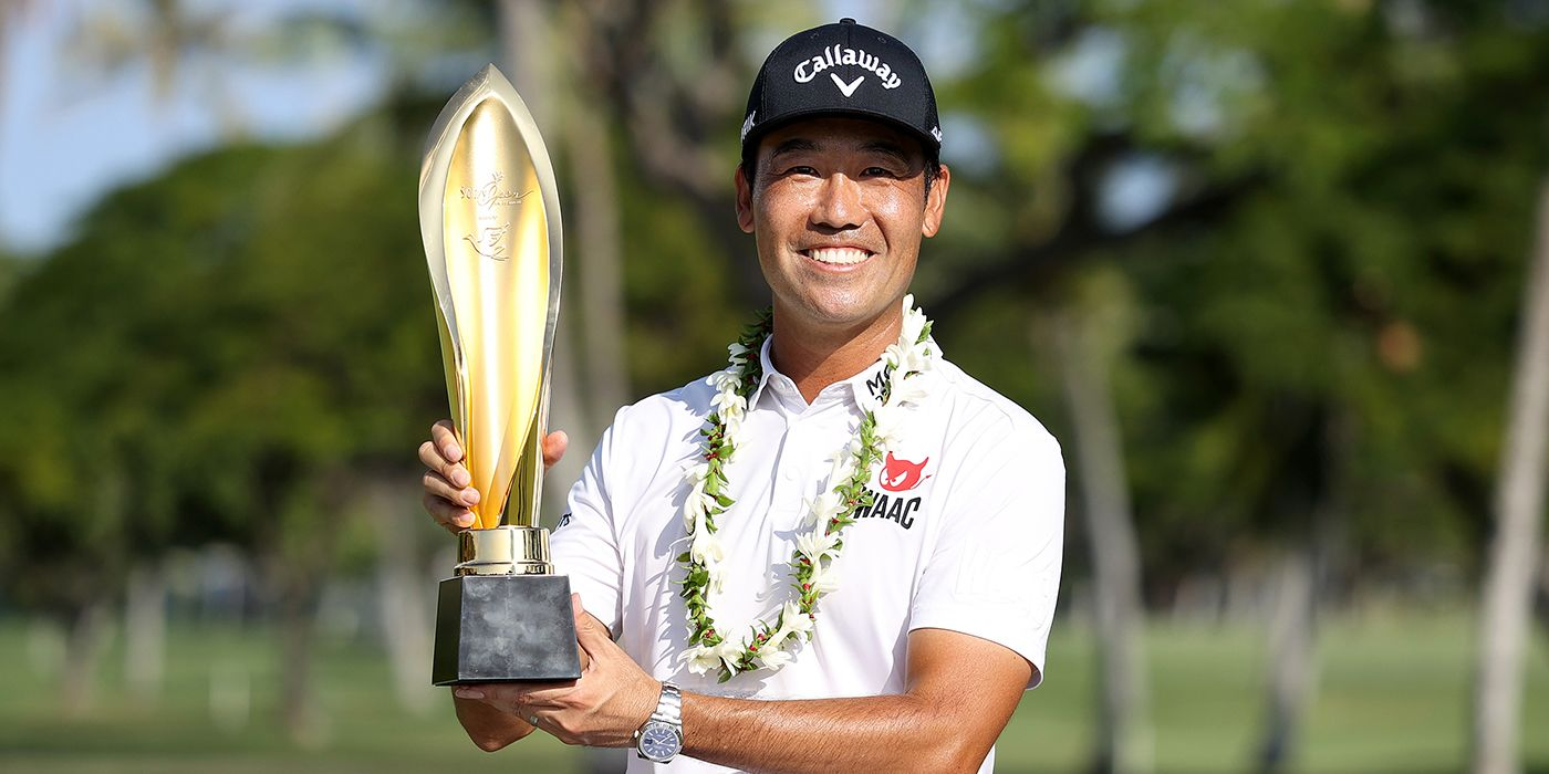Kevin Na with Sony Open trophy