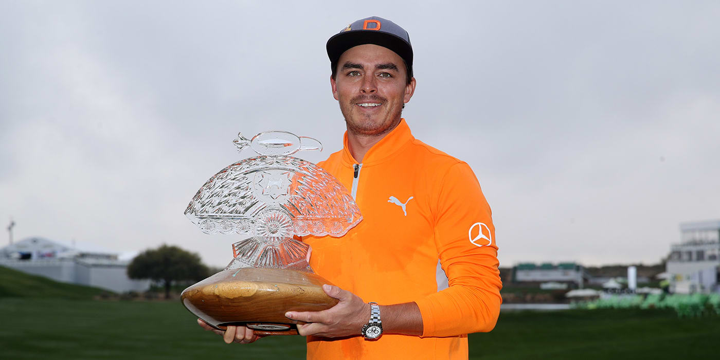 Rickie Fowler with Phoenix Open trophy