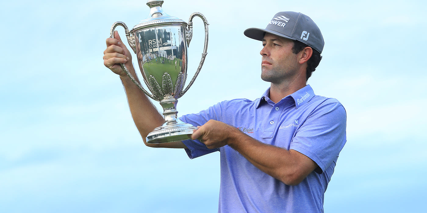 Robert Streb with RSM trophy