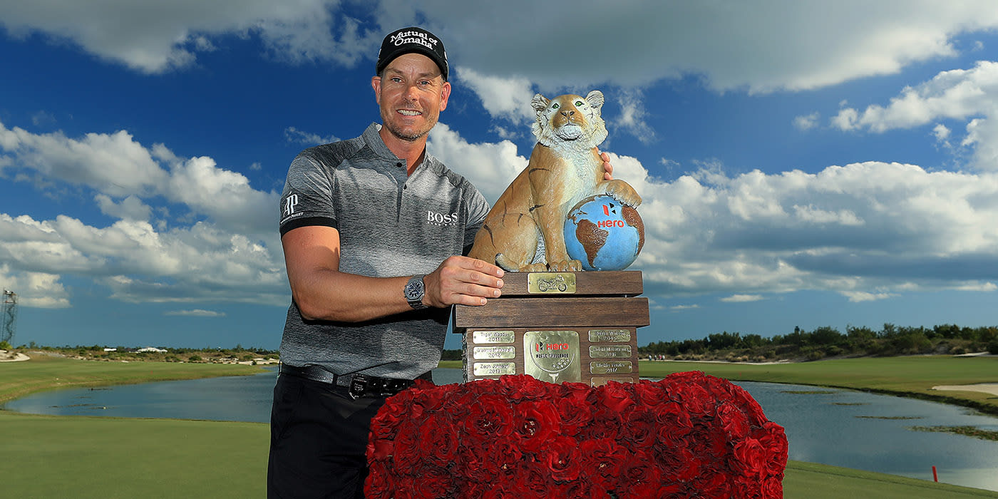 Henrik Stenson with his very own Tiger