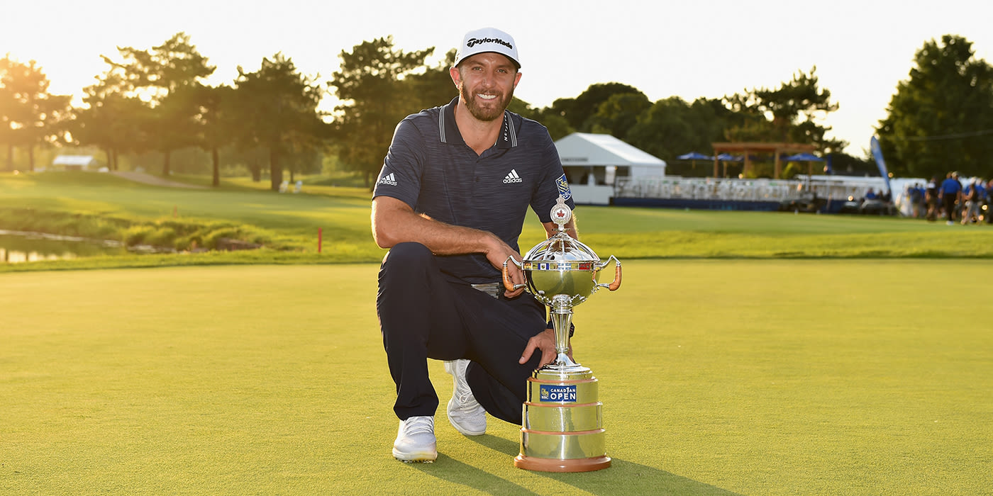 Defending champion Dustin Johnson