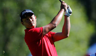 Cao opens big Bear Mountain lead with 18 to play