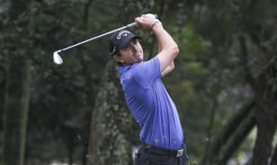 With third round suspended, Echavarria holds one-shot lead in Brazil