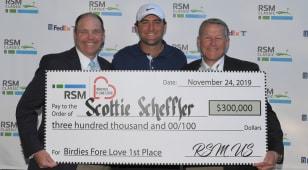 Scottie Scheffler wins $300,000 through RSM Birdies Fore Love program