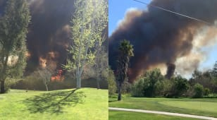 Qualifier for Hoag Classic reduced to nine holes due to fire near the course