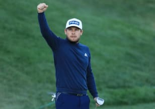 Hatton survives tough conditions to lead Arnold Palmer Invitational presented by Mastercard