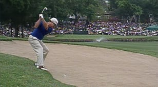 Watson's defining bunker shot to win the 1998 Charles Schwab Challenge