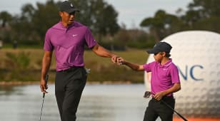 Team Woods off to fun, fast start at PNC Championship