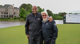 Charles Barkley, former NBA star now PGA TOUR Champions fan