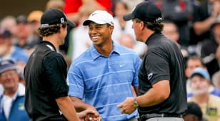Three's company: The pairing of Tiger and Phil (and Adam Scott) added excitement to the 2008 U.S. Open
