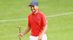 Xander Schauffele leads by one at Olympics after big finish