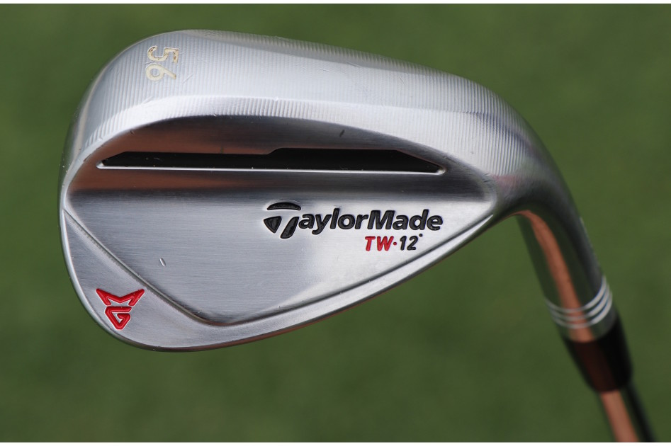 Tiger Woods' new 56-degree TaylorMade Milled Grind 2 wedge, with Woods' custom grind and 12 degrees of bounce.
