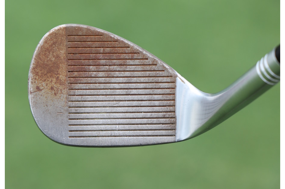 The face of Tiger Woods' new TaylorMade Milled Grind 2 wedge.