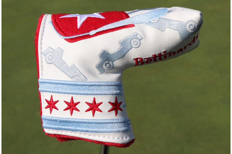 Bettinardi's headquarters are located nearby Chicago, and the company made a special Chicago-flag inspired putter cover.