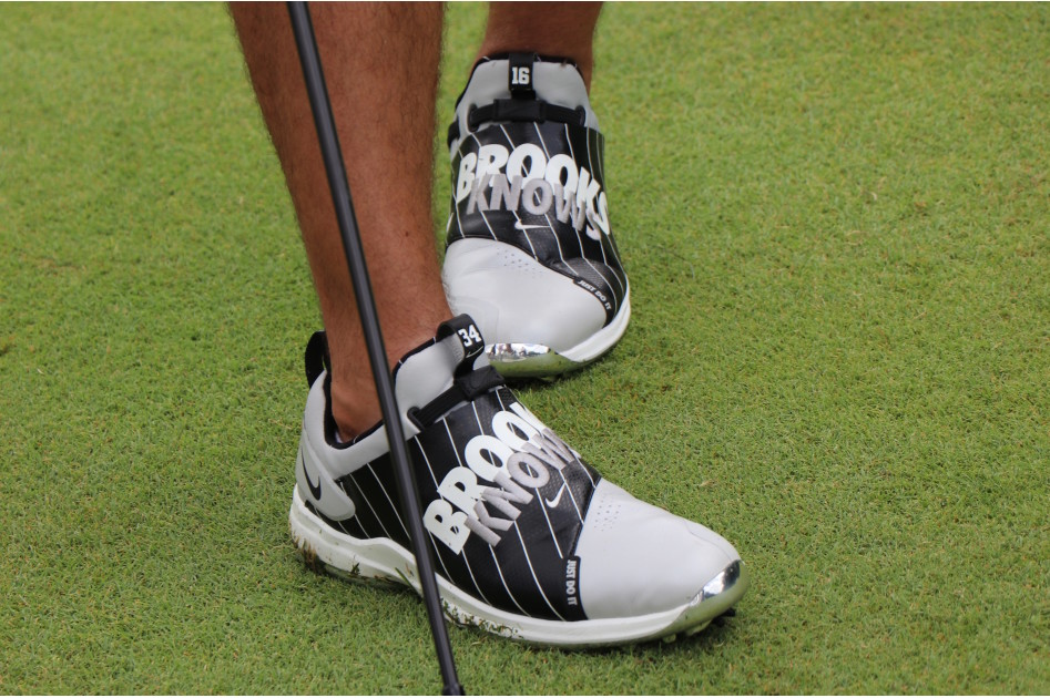 "Brooks Koepka played in the pro-am on Wednesday with Bo Jackson. As an ode to the legend, he wore ""Brooks Knows"" golf shoes in a Chicago White Sox colorway."