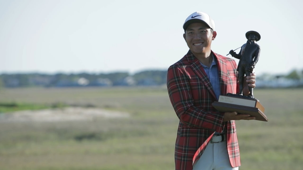 C.T. Pan with RBC Heritage trophy