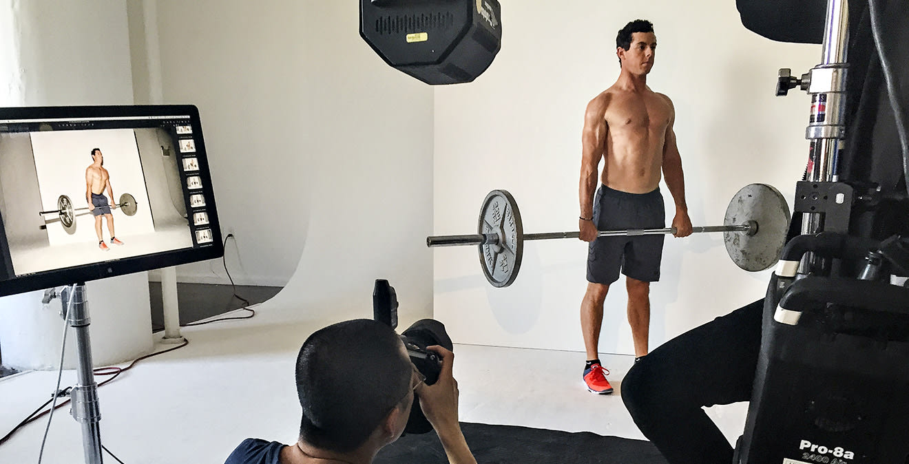 Behind the scenes of Rory's Men's Health cover shoot