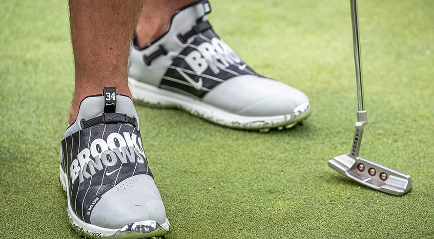 Koepka wears 'Brooks Knows' shoes to